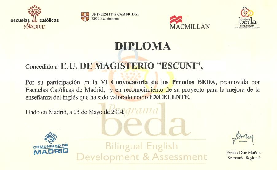 Premios BEDA 2014