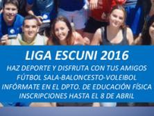 Liga Escuni: fútbol sala, baloncesto, voleibol…