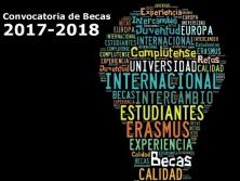 Solicitud becas Erasmus+ con fines de estudios. Curso 2017-18