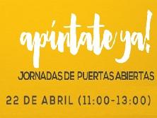Jornada de puertas abiertas. 22 de abril (11-13 h)