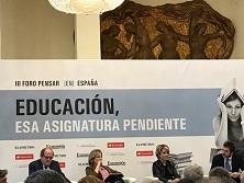"""III Foro de Pensar (en) España: """"Educación, esa asignatura pendiente"""""""