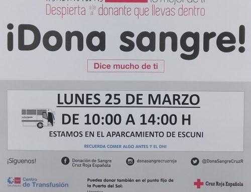 Dona sangre… 25 de marzo 2019, 10-14 h en @escuni