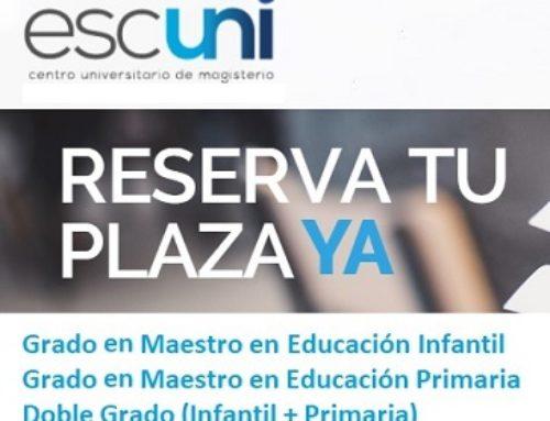 Estudia en @escuni tu Grado o Doble Grado de Maestro (Infantil / Primaria)
