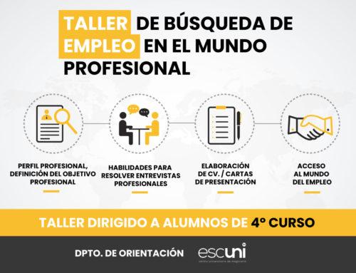 Taller de búsqueda empleo en el mundo profesional
